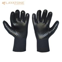 LayaTone بذلة قفازات 5 مللي متر قفازات من النيوبرين الرجال بذلة قفازات خمسة إصبع كاياك تصفح غص Spearfishing الغوص قفازات الغوص