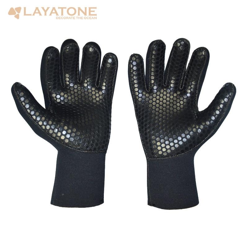 Layatone 2/3/5mm Neoprene Diving Gloves Men Wetsuit Gloves Snorkeling Canoeing Gloves Women Spearfishing  Hunting Gloves