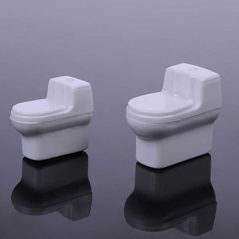 10pcs White Unpainted Toilet Model Dollhouse Miniature Furniture 1:25 1:30 1:50 Scale