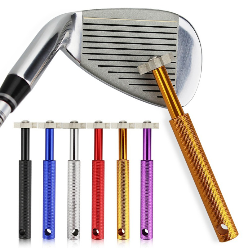 Golf Club Sharpener With 6 Heads Cleaner Perfect Re-Grooving Cleaning Tool Strong Wedge Alloy Wedge Sharpening Cut New