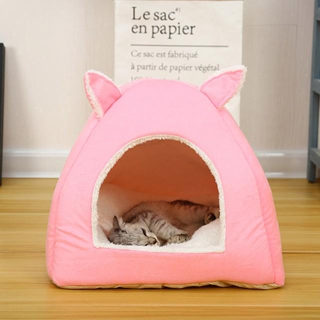 Теплый домик для домашних животных складная кровать кошек пещерное