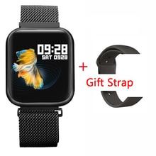 Fitness Tracker P80 moniteur de fréquence cardiaque plein écran tactile Bracelet intelligent rappel dappel Sport santé bande pour iPhone xiaomi