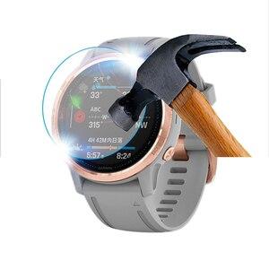 Image 2 - 3 pçs relógio inteligente película protetora para garmin fenix 5 5S plus 6 s 6 6x pro bordas redondas filme de vidro temperado premium protetor de tela