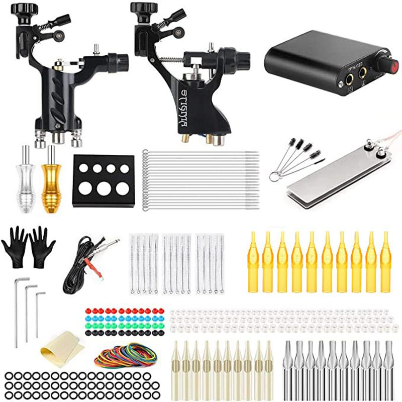 Tattoo Kits Rotary Tattoo Gun Machines Tattoo Needles Tattoo <font><b>Power</b></font> <font><b>Supply</b></font> tattoo after cream Tattoo <font><b>Supplies</b></font> Accessories image