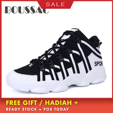 BOUSSAC 35-45 Spring And Summer Large Size Running Shoes Non-slip Waterproof Increase Sneakers Outdoor Fitness Walking Shoes 2018 new high grade plus fat to increase size running set spring and autumn sportswear large size men s suits outdoor fitness sp