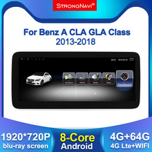 1920*720 ipsスクリーン 4 + 64 グラムandroidディスプレイW176 用メルセデスベンツcla w177 gla X156 2013 2018 カーラジオのgpsナビゲーションbt wifi