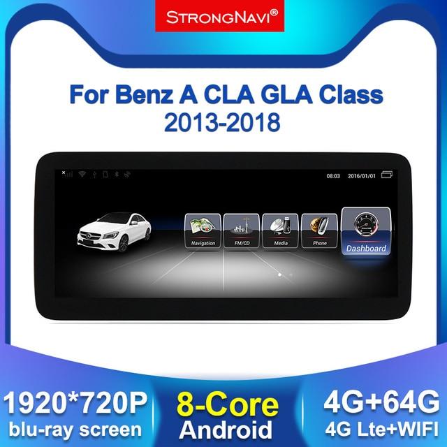 Autoradio Android, écran IPS 1920x720, 4 go/64 go, Navigation GPS, BT, WIFI, pour voiture Mercedes Benz A W176, CLA w177, GLA X156 (2013 2018)
