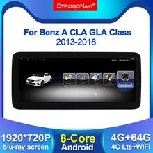 Tela 4 + 64g android 1920*720 ips, display para mercedes benz a w154 cla w177 gla x156 2013 2018 rádio de carro navegação gps bt wifi
