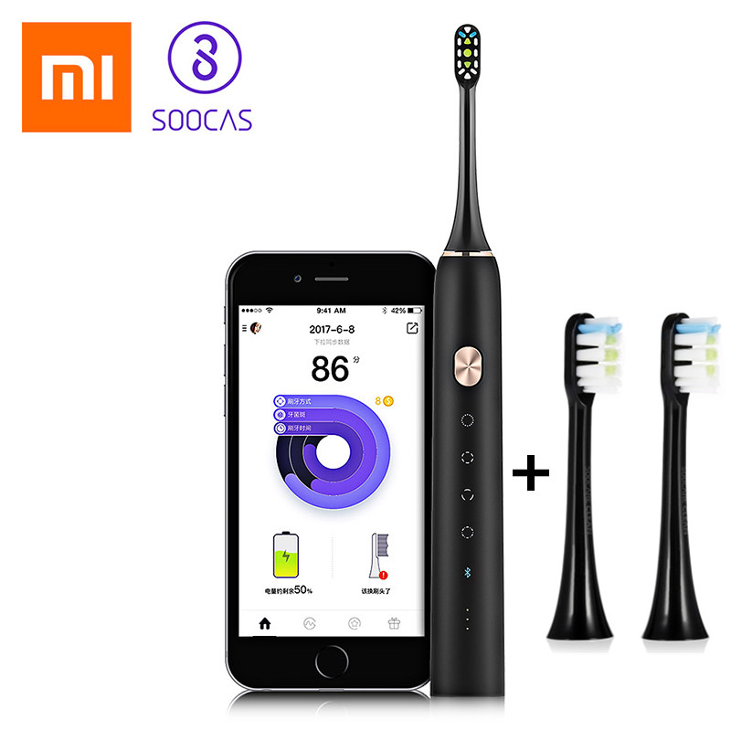 Image 2 - Xiaomi Soocare X3 Soocas Waterproof Electric Toothbrush Rechargeable Sonic Electrric Toothbrush Upgraded Ultrasonic Toothbrush-in Electric Toothbrushes from Home Appliances