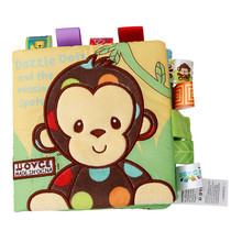 Learning Educational Kids Cloth Books Animal Style Monkey/Ow