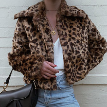 Goocheer Leopard Print Winter Jacket Women Fluffy Faux Fur Teddy Bear Coat Cheet