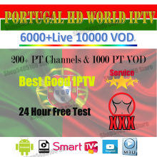 World iptv subscription 200+HD Portugal LIVE tv 1000 PT VOD m3u greece spain dutch germany iptv for enigma2 M3U mag phone(China)