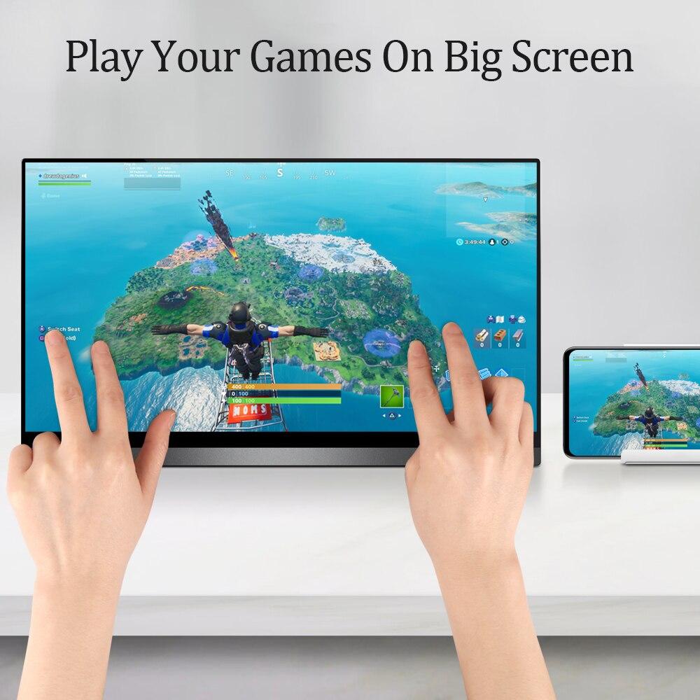Ultra FHD 4K IPS Bildschirm 10 Punkt Touch G-sensor Tragbare Monitor 15,6 zoll Display für Tiktok Camgirl live-Show oder Video Spiel