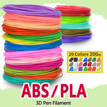 Pla/Abs 1.75 Mm 20 Kleuren 3d Pen Filament Pla 1.75 Mm Pla Filament Abs Filament Abs Plastic Pla plastic Regenboog Draad(China)
