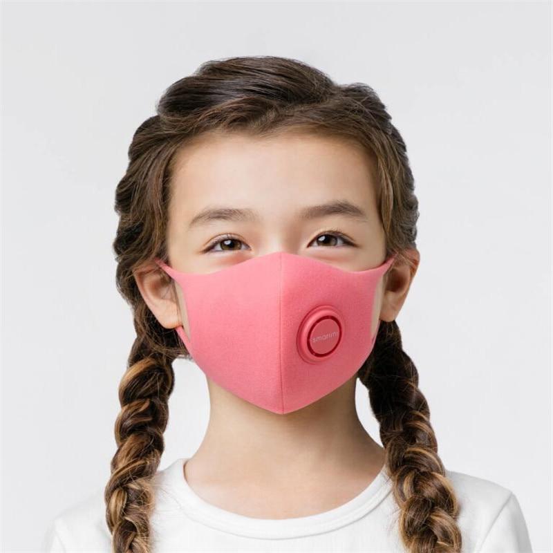 In Stock SmartMi Children's Mask PM2.5 Haze Mask Anti-haze Face Mask Adjustable Ear Hanging 3D Design Comfortable Light For Kids