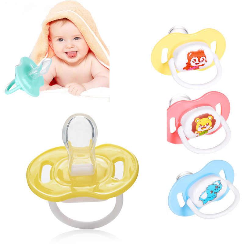1 pçs dos desenhos animados mamilo recém-nascidos babys mamilo chupetas bebê dos desenhos animados dormindo macio silicone chupetas padrão aleatório crianças quentes