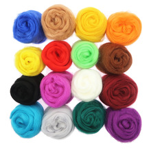 10g 86 Colors Wool Fibre Flower Animal Toy Wool Felting Handmade Spinning DIY Craft Materials Tool Felt Christmas