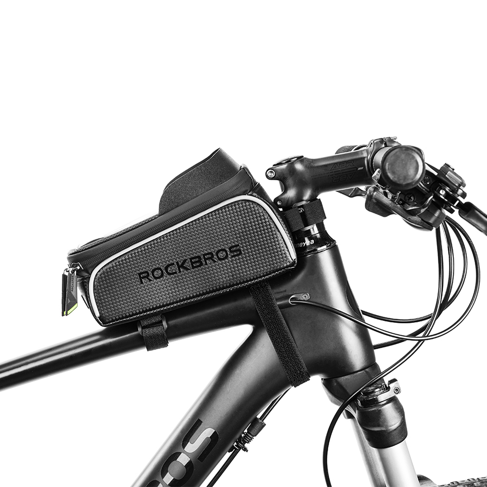 Excellent Bike Phone Bag Top Tube Bag Cycling Front Frame Bag Phone Holder Touch Screen Bike Phone Pouch Front Pannier Case 7