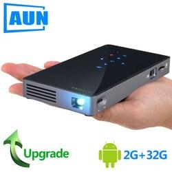 AUN MINI proyector D5S Android 7,1 (RAM: 2G + ROM: 32G) WIFI 5000mAH batería portátil proyector LED 1080P Video 3D beamer