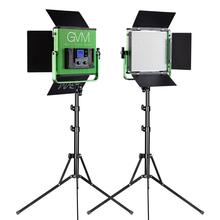 GVM LED Photography Lights 672S Bi-Color  Video Studio 2-Light Kit for Youtube Lighting with Stand Wireless Remote Control Green 3 x 150w studio fresnel tungsten light fixture with dimmer control spotlight video light kit lighting with carry case and stand