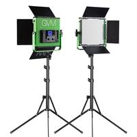 GVM LED Photography Lights 672S Bi Color Video Studio 2 Light Kit for Youtube Lighting with Stand Wireless Remote Control Green