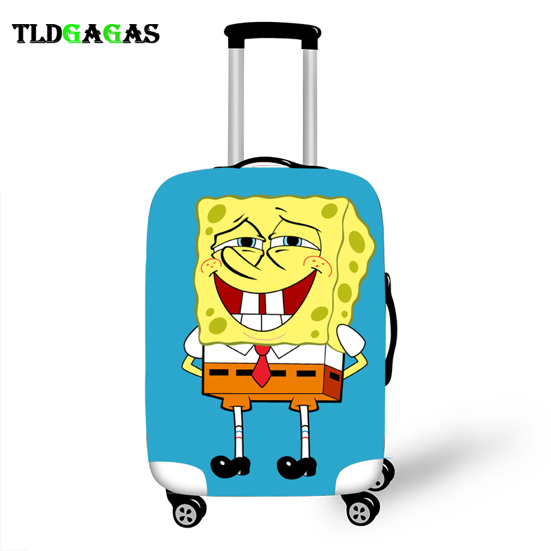 Elastic Luggage Protective Cover Case For Suitcase Protective Cover Trolley Cases Covers 3D Travel Accessories Anime Pattern T26
