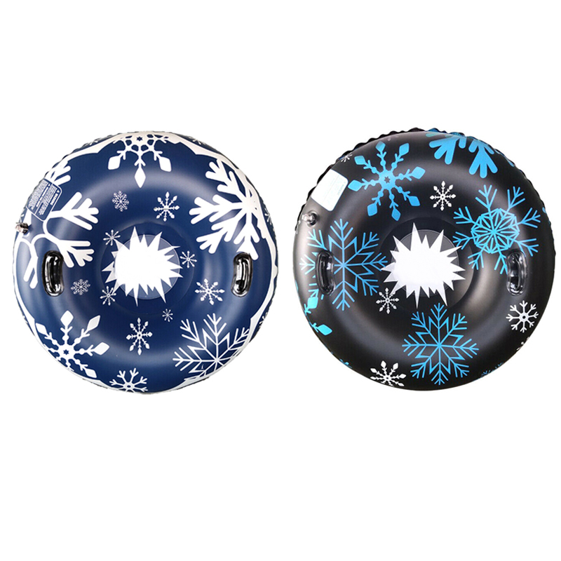 Snow Tube For Winter Fun Inflatable 47 Inch Heavy Duty Snow Sleds Skiing Supplies ZJ55