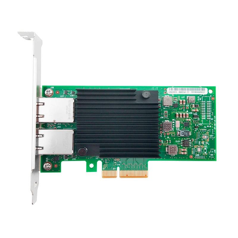 Hot Sale X550-T2 10G Dual Port RJ45 PCIe3.1 X8 Network Card Intel X550