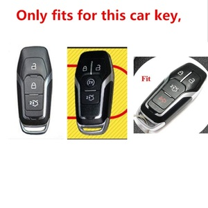 Image 2 - TPU Car Smart Remote Key Case Automobile Protective Key Skin Shell Cover For Ford Edge Mondeo Mustang For Ford Keys Keychain