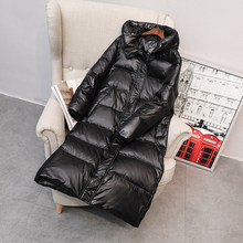 New 90% White Duck Down Jacket Women Winter Long Hooded Down Parka Thick Coat Waterproof Warm Female Snow Outerwear(China)