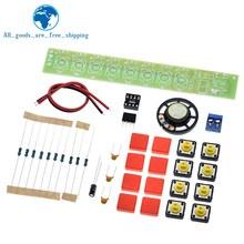 TZT 1 zestaw DIY Kit NE555 komponent elektronika fortepian elektryczny moduł narządów