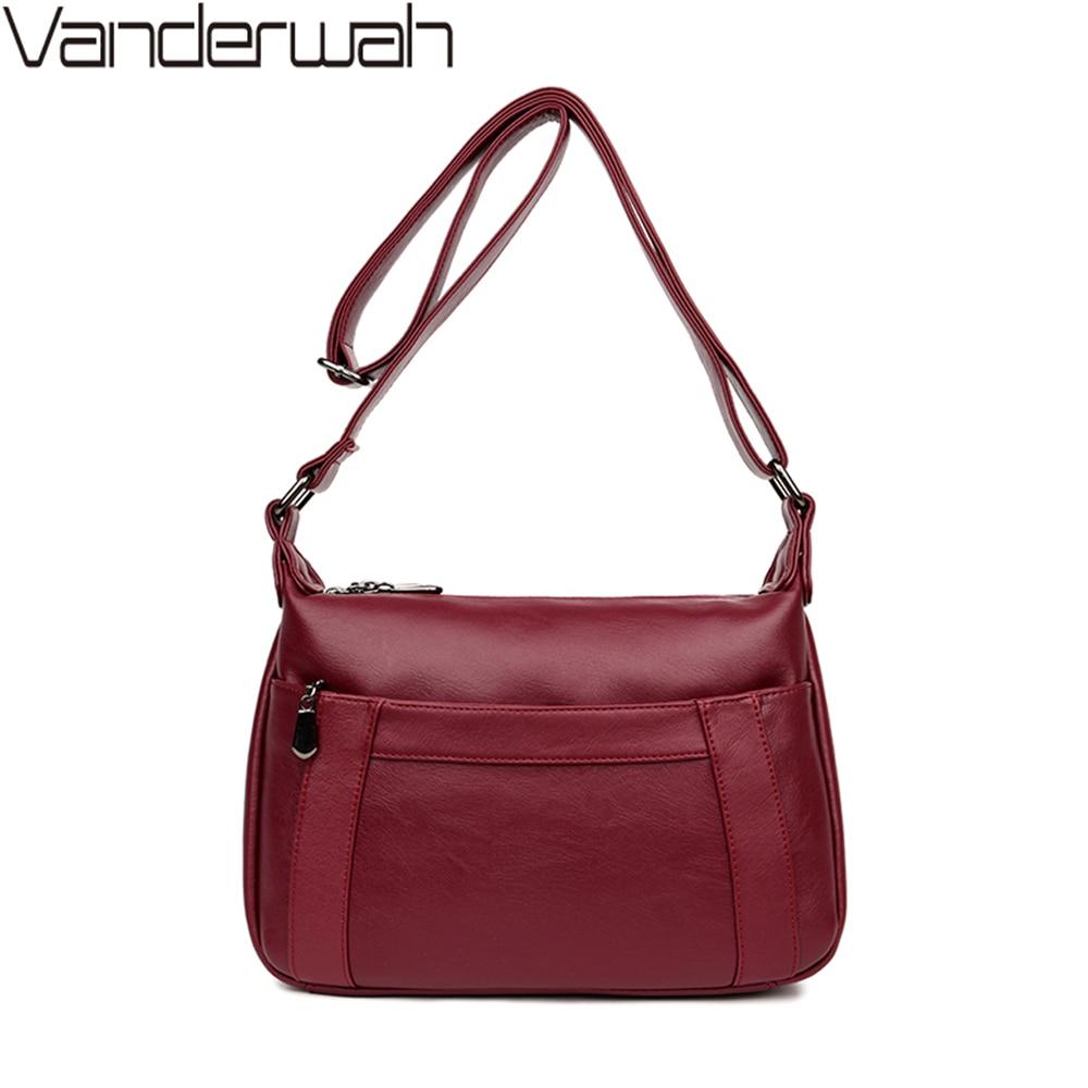 NEW Front Pocket High Quality Women Crossbody Bags Female Handbags Women Bag Handbags Solid Leather Messenger Shoulder Bag Sac