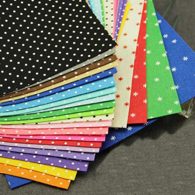 Polka Dot Wool Felt Choose From 4 Colors  Polka Dot Printed Felt  Polka Dotted Felt  Polka Dot Felt