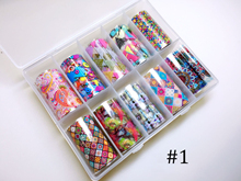 [4X100cm ]10 Sheets/Box Nail Art Transfer Foil Sticker Box Gardens /Dreams/ Nailstalgic foil