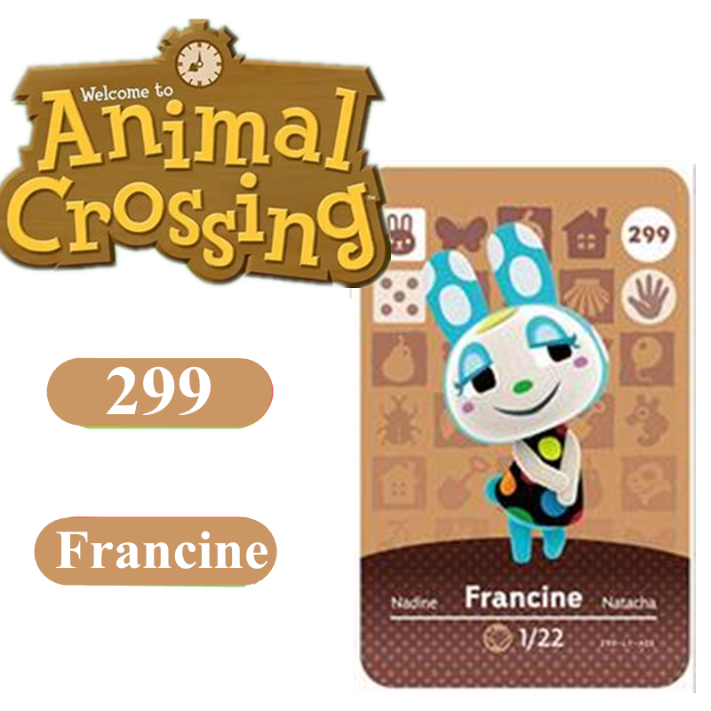 Animal Crossing Game Amiibo Card 299 Francine 264 Marshal NFC Card For Nintendo Switch NS Games Series 1 2 3 4