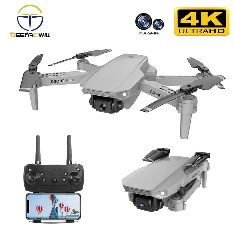 Permalink to 2020 NEW E88 drone 4k HD Drone With Dual camera drone WiFi 1080p real-time transmission FPV drone follow me rc Quadcopter