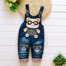 BibiCola/ г. Детские штаны весенне-осенние нагрудник для мальчиков, штаны детские джинсовые комбинезоны детские джинсы и штаны для девочек, джинсовая одежда