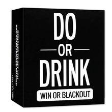 O novo cartão de jogo de tabuleiro fazer ou beber jogos de tabuleiro beber jogo freeshipping