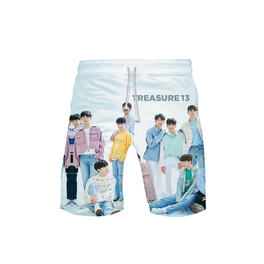 Women's 3D Treasure 13 Templar 3D Board Shorts Trunks 2019 Summer Quick Dry Kpop Shorts Women Hip Hop Short Pants Beach Wear