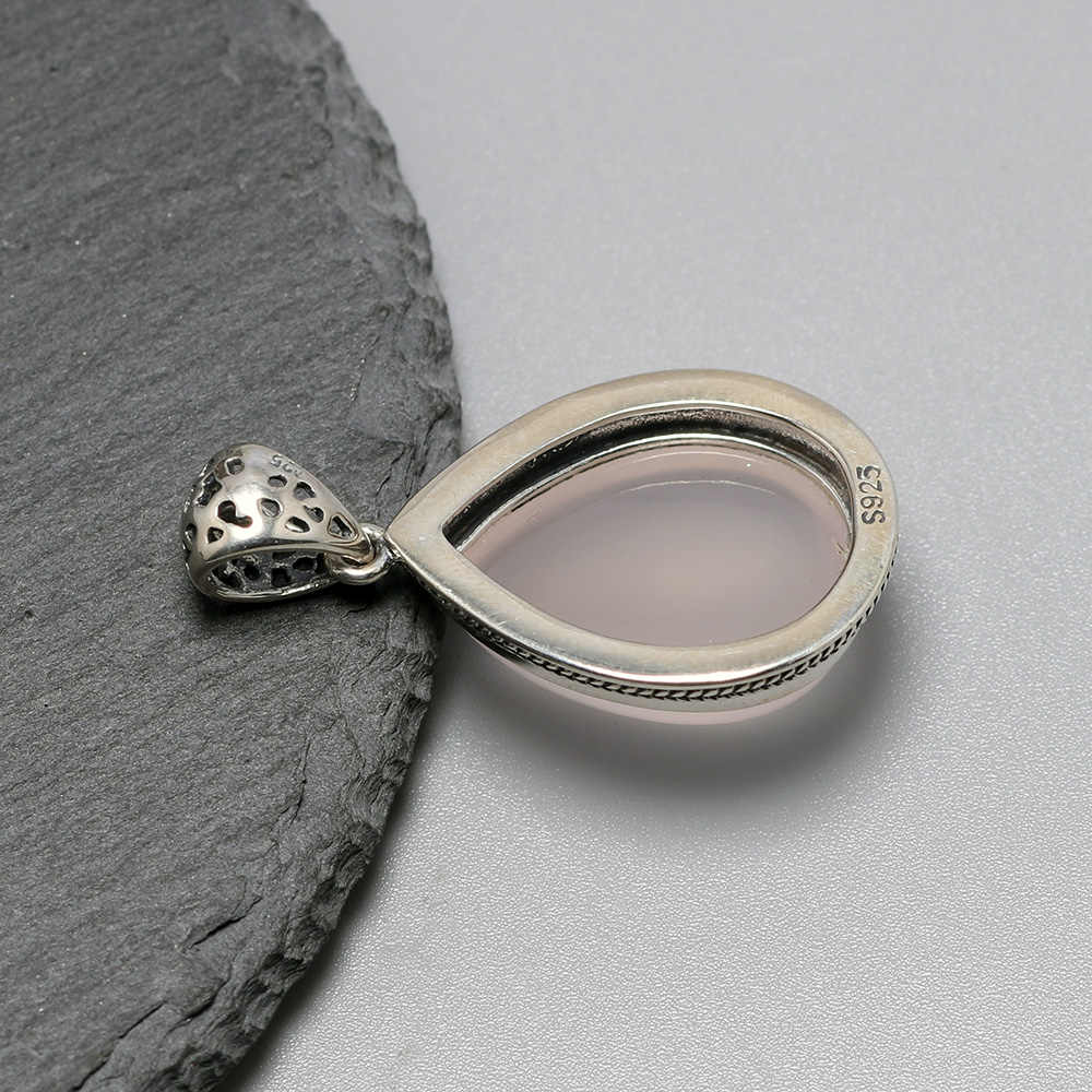 Natural Madagacar Agate Gemstone 925 Sterling Silver Pendant