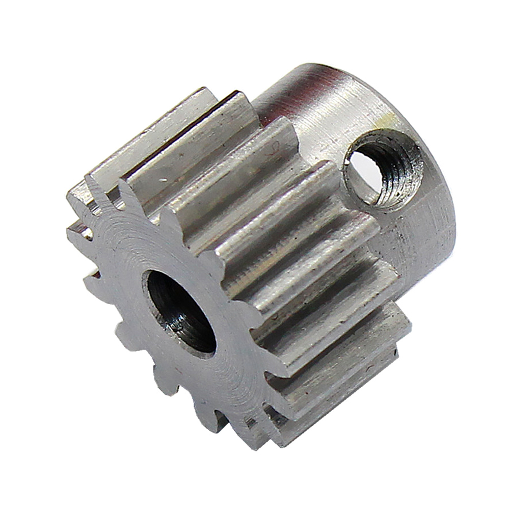 Metal Motor Gear Steel High Hardness Steel Cylindrical Shape 15 Teeth Gear Motor 775 1M 8MM Tool For Industry Metal Machining