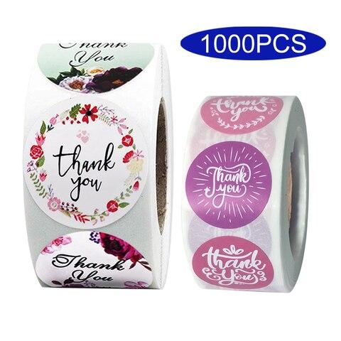 1000 pcs coreano bonito flor obrigado voce adesivo kawaii papelaria presente kawai fornecimento estacionario decorativo