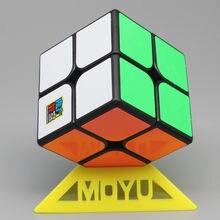 Moyu Meilong 2x2 sihirli küp 50mm boyut Stickerless siyah 2x2x2 cep küp Mini cubo Magico