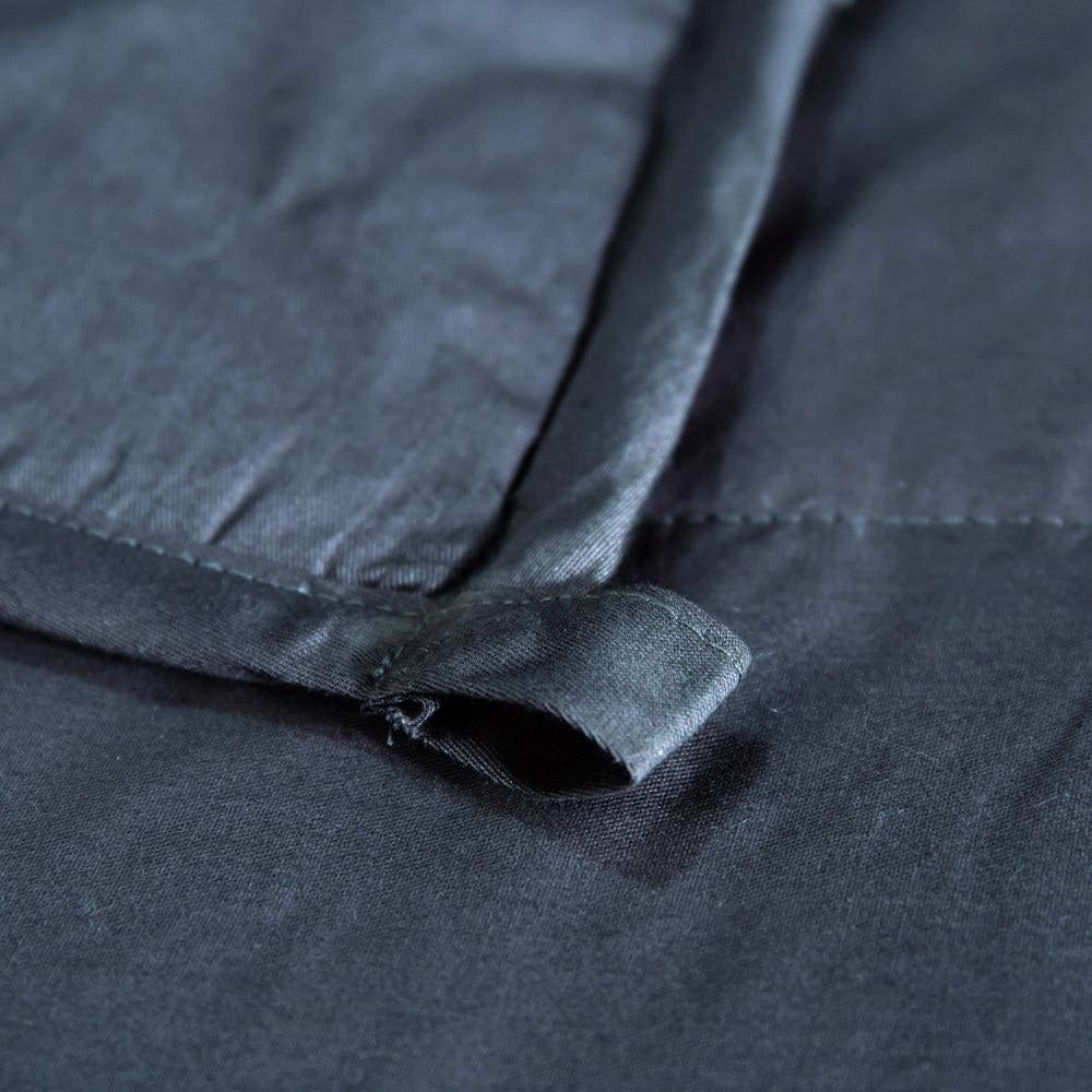 Sleep aid ponderada cobertor 20 lbs 15 lbs contas de vidro adulto crianças 100% algodão colcha pesada para o autismo ansiedade insônia rei rainha - 5