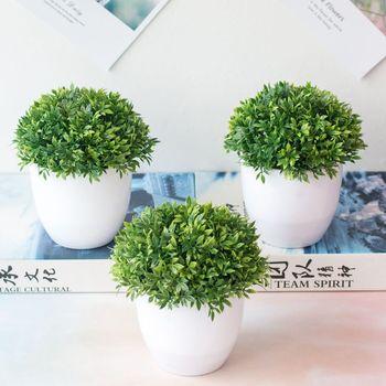 Artificial Plants Bonsai Small Tree Pot Plants Bonsai Lotus Flowers Fake Flowers Potted Ornaments Home Decoration Garden Decor 1