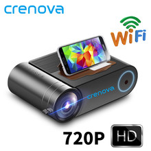 CRENOVA 2019 más nuevo HD 720P HD LED proyector 1080P Wireless WiFi Multi-Pantalla de proyector de Video 3D HDMI VGA AV Beamer(China)