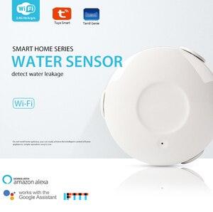 Image 1 - WIFI מים גלאי אזעקת דליפת מים חיישן אבטחת בית חכם בית עם Alexa הד Google בית