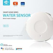 WIFI Allarme Perdite Dacqua Rilevatore di Acqua del Sensore di Sicurezza Domestica smart Home, Casa Intelligente con Alexa Eco Google Casa