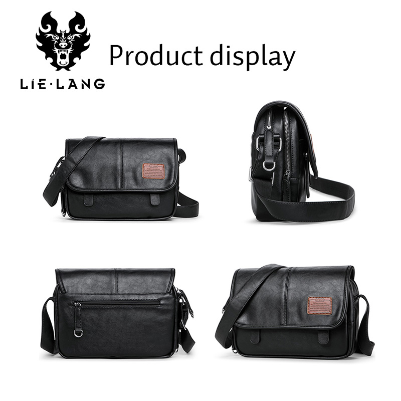 LIELANG Crossbody Bags Fashion Shoulder Bag Casual Men 39 s Messenger Bag Men Waterproof Brand Soft leather Mens Shoulder Bags
