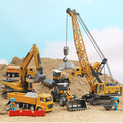 Cool Cars Toys for Boys Over 3 Years Old Bulldozer Crane Excavator Trucks for Kids Alloy Engineering Truck Cars Juguetes Ninos